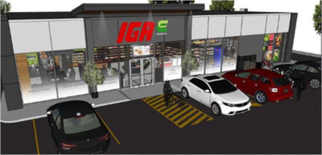 Maquette- vue extérieure - IGA express (Groupe CNW/IGA)