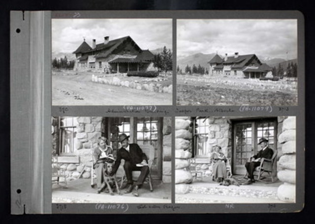 Jasper Park Information Centre, between 1892-1917. This image is part of Ancestry's new collection entitled Canada, Photographic Albums of Settlement, 1892 – 1917 (CNW Group/Ancestry.ca)