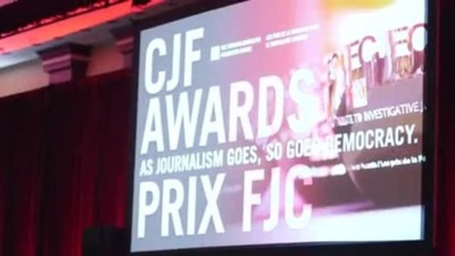 Video: Highlights of the 2016 Canadian Journalism Foundation Awards