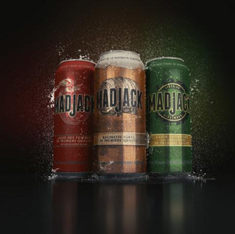 La racinette forte de première qualité et la lager aromatisée au gingembre de première qualité de Mad Jack sont disponibles en canettes de 473 ml et de 355 ml. (Groupe CNW/Molson Coors Canada)