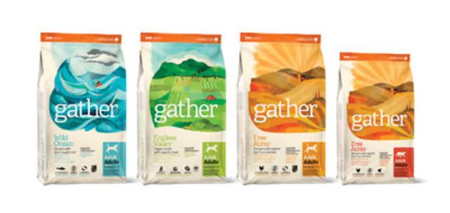 Voici GATHER lancée par Petcurean, sa nouvelle gamme d'aliments pour animaux de compagnie certifiée biologique et durable (Groupe CNW/Petcurean)