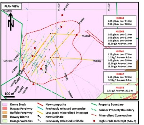 Figure 2: Additional highlights in Central Zone (CNW Group/Premier Gold Mines Limited)