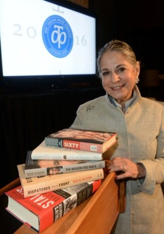RBC Taylor Prize founder Noreen Taylor presents five books on the shortlist for the 2016 Prize. Photo Tom Sandler (CNW Group/RBC Taylor Prize)