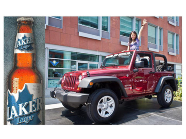 Laker Win A Jeep Photo (CNW Group/Brick Brewing Co. Limited)