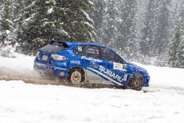 Unexpected snowfall at the 2011 Rocky Mountain Rally (CNW Group/Subaru Canada Inc.)
