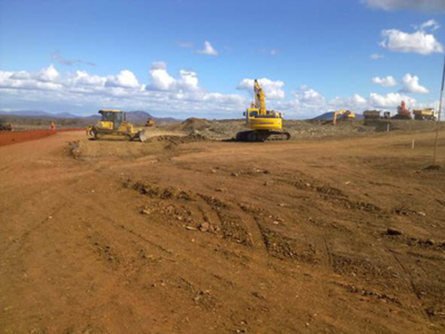 Figure 3: Photo of Cutting & Filling Activity at Plateau 2 (CNW Group/Largo Resources Ltd.)