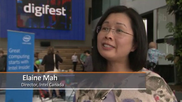Video: Intel Family Day at Digifest Encourages Digital Creativity for All Ages. Elaine Mah, Director, Intel Canada, Massimo Banzi, Co-Founder, Arduino, Jennifer Turliuk, Co-Executive Director, MakerKids, Scott Greenberg, Head of Developer Relations, Thalm