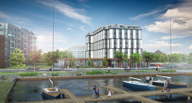 The Delta Thunder Bay Hotel and Conference Centre will be constructed on Prince Arthur's Landing as part of Thunder Bay's world class waterfront redevelopment. The hotel will become the city's first 4-star upscale, full service hotel after a more than $20 million investment. (CNW Group/Delta Hotels)