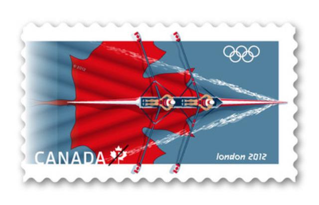 Timbre des Jeux Olympiques de Londres 2012 (Groupe CNW/Postes Canada)