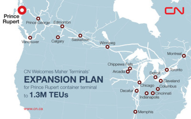 CN welcomes Maher Terminals' expansion plan for Prince