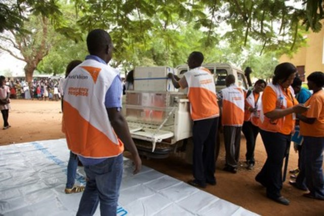 World Vision mobilizes their emergency response in Juba, South Sudan. (CNW Group/World Vision Canada)