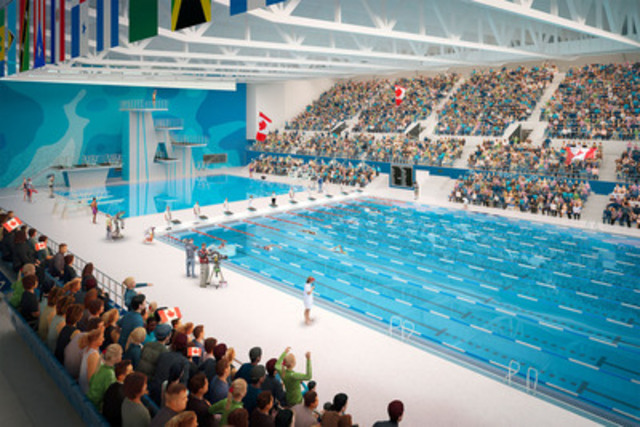 Pan Am and Parapan Am Aquatics Centre and Field House (CNW Group/Toronto 2015 Pan/Parapan American Games)
