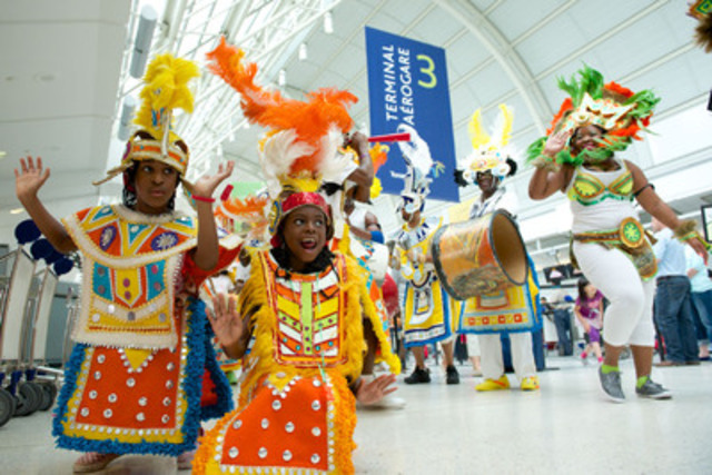 Toronto Pearson kicks off celebrations for the 46th annual Scotiabank Caribbean Carnival Toronto on Tuesday. (CNW Group/Toronto Pearson International Airport)