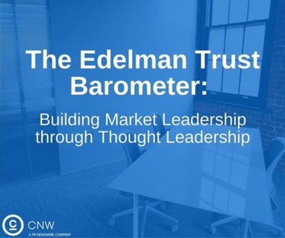 The Edelman Trust Barometer is the longest-running and most compre­hensive survey of trust worldwide. It has become a cornerstone piece of content that customers, prospects and influencers look to every year for insights into their industries and into PR in general. (CNW Group/CNW Group Ltd.)