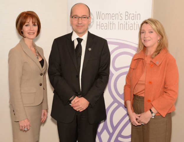Pictured from left to right: Lynn Posluns, WBHI Founder and President, Dr. Jens Pruessner, Director, McGill Centre for Studies in Aging and Nancy Rector, Partner, Enterprise Risk at Deloitte. (CNW Group/Women's Brain Health Initiative (WBHI))