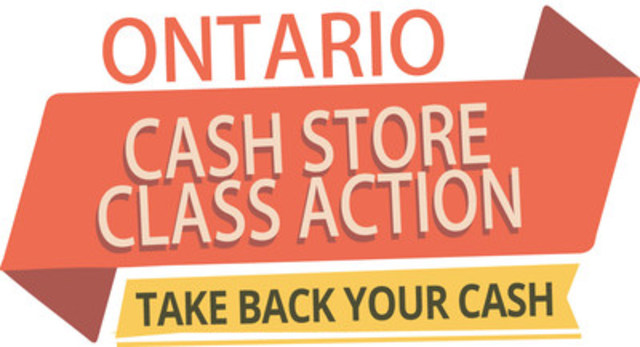 Ontario Cash Store Class Action, Take Back Your Cash (CNW Group/Harrison Pensa LLP)