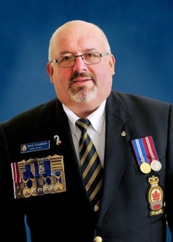 Le président national David P. Flannigan (Groupe CNW/Légion royale canadienne)
