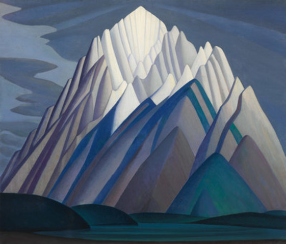 Mountain Forms, the remarkable Lawren Harris canvas sold for $11,210,000, a new record for a Canadian work at auction and a world record for the artist (CNW Group/Heffel Gallery Limited)