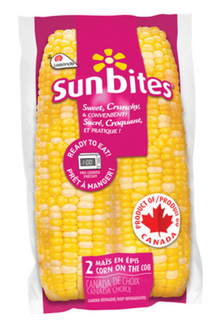 Sunbites: Corn on the cob pre-cooked, vacuum packed - ready in 1 minute. (CNW Group/Terrain) (CNW Group/Lassonde Specialties Inc. ) (CNW Group/Lassonde Specialties Inc. )