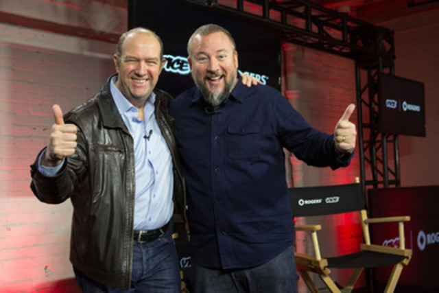 Guy Laurence, President and Chief Executive Officer, Rogers and Shane Smith, Founder, VICE Media announce partnership, including state-of-the-art multimedia production studio  (CNW Group/Rogers Communications Inc.)