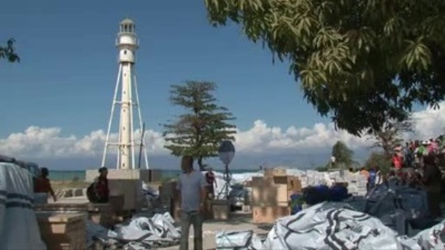Canadian Red Cross field hospital being set up in Carrefour Haiti following 2010 earthquake