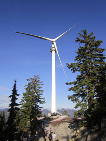 Photo Courtesy of CanWEA, Eye of the Wind, Grouse Mountain, Vancouver, BC.(CNW Group/Canadian Wind Energy Association)