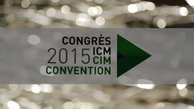 Vidéo : L'ICM fait honneur aux chefs de file de l'industrie minière canadienne au Gala des remises des prix du Congrès et Expo! de l'ICM 2015