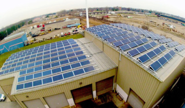 CoPower Green Bond I is backed by loans to clean energy projects, including a solar rooftop project in Windsor, Ontario. (CNW Group/CoPower)