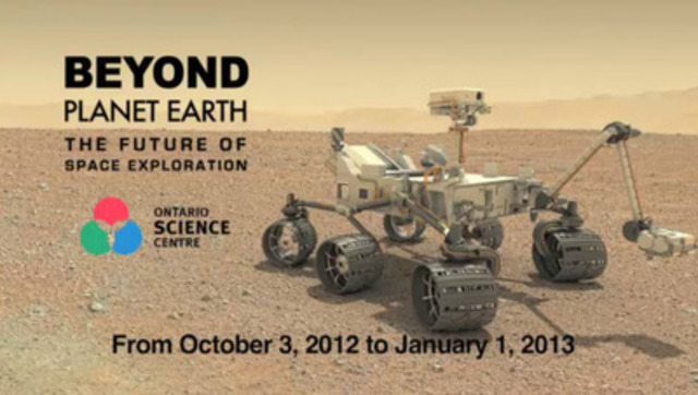 Beyond Planet Earth: The Future of Space Exploration is on display at the Ontario Science Centre until January 1, 2013.