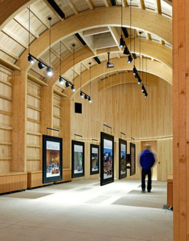 Jury?s Choice Award Winner: Deer Clan Longhouse (Crawford Lake, ON); Architect:   Brook McIlroy; Engineer:   Blackwell (CNW Group/Ontario Wood WORKS!)