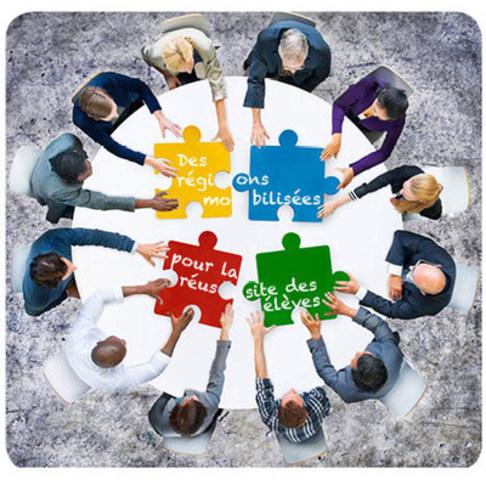 Des régions mobilisées pour la réussite des élèves. Activité de réflexion et d'échanges pour les élus scolaires et les directions générales dans le cadre de la 69e assemblée générale de la FCSQ, le 27 mai 2016 à Québec. (Groupe CNW/Fédération des commissions scolaires du Québec (FCSQ))