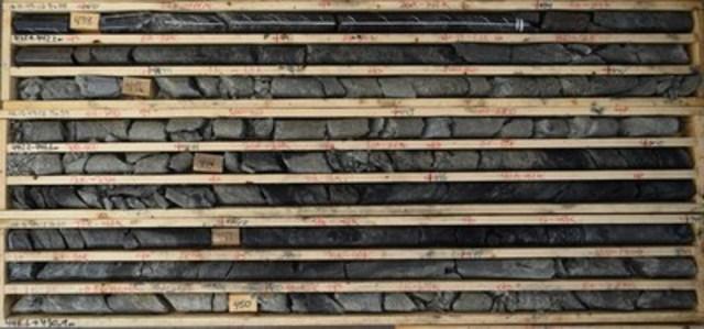 Photo 2: AR-15-49c2 – Mineralization from 437.9 to 450.9 m (CNW Group/NexGen Energy Ltd.)