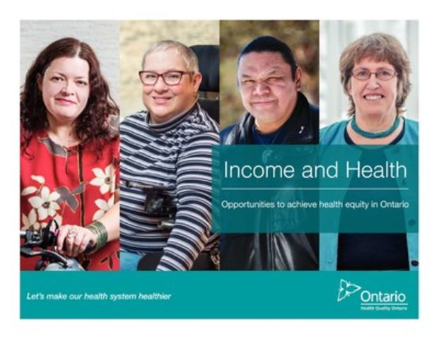 New report by Health Quality Ontario reveals the poorer you are in Ontario, the more likely you are to have worse health, to receive worse health care, and to die earlier. (CNW Group/Health Quality Ontario)
