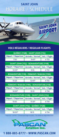 Flights schedule (CNW Group/Pascan Aviation inc.)