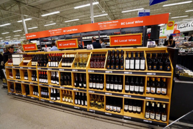 Real Canadian Superstore South Surrey announces B.C. wine sales beginning today. (CNW Group/Loblaw Companies Limited)