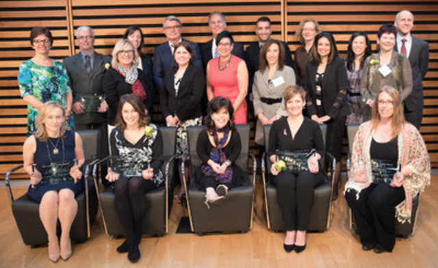 The 10th annual Human Touch Awards took place on April 21, 2016, honouring exceptional patient care across Ontario's cancer and kidney care systems. (CNW Group/Cancer Care Ontario)