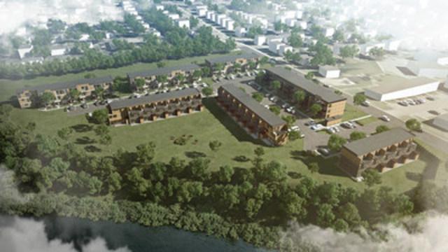 Hameau St-Jacques, a Fonds immobilier de solidarité FTQ and Groupe immobilier SMB project in the Les Rivières borough of Québec City. (CNW Group/Fonds locaux de solidarité FTQ)