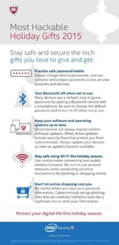 Intel Security has five tips for making your hackable holiday gifts safer. (CNW Group/Intel Security)