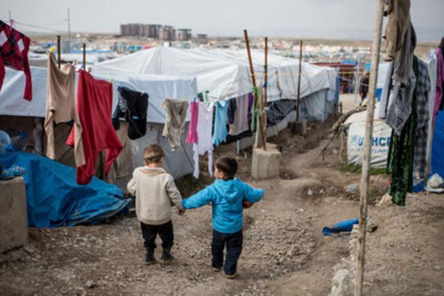 Les enfants au camp pour personnes réfugiées de Domiz, dans le nord de l'Iraq, comptent parmi les enfants les plus vulnérables du monde. L'UNICEF lance un avertissement à la communauté mondiale : des millions d'enfants seront laissés-pour-compte si nous ne concentrons pas nos efforts sur les plus désavantagés d'entre eux dans le cadre des Objectifs de développement durable à venir. ((c) UNICEF/UKLA2014-04933/Schermbrucker) (Groupe CNW/UNICEF Canada)