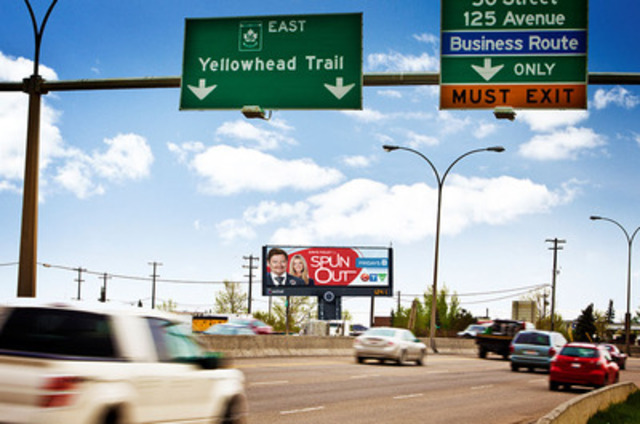 Astral Out-of-Home large-format Digital face in Edmonton. (CNW Group/Bell Media) (CNW Group/Astral Out-of-Home)