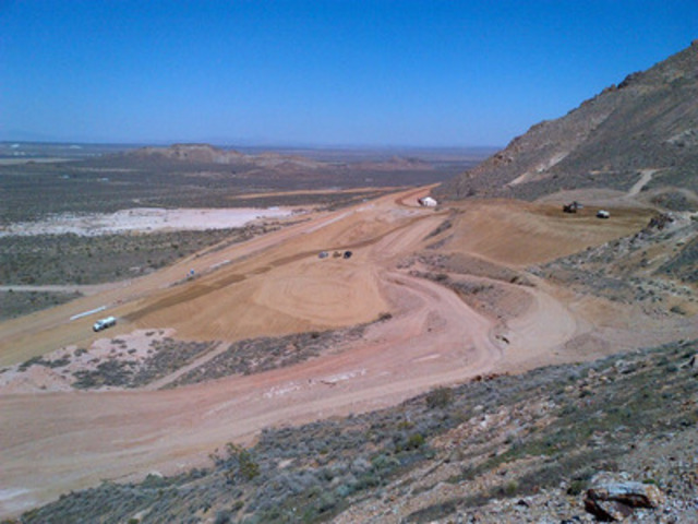 Site grading of the area where the crushing-screening plant will be constructed is proceeding and is expected to be completed in May. (CNW Group/Golden Queen Mining Co. Ltd.)