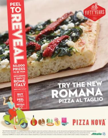 Pizza Nova is giving away 50,000 Prizes and launches new ROMANA - Pizza al Taglio (CNW Group/Pizza Nova)