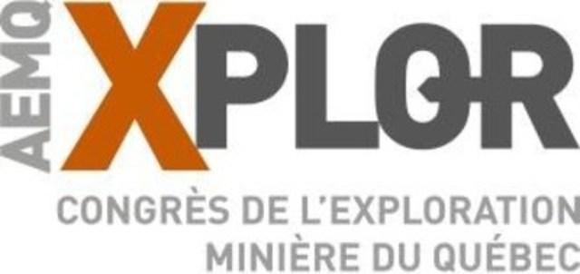 Logo : AEMQ Xplor congrès de l'exploration minière du Québec (Groupe CNW/Association de l'exploration minière du Québec (AEMQ))