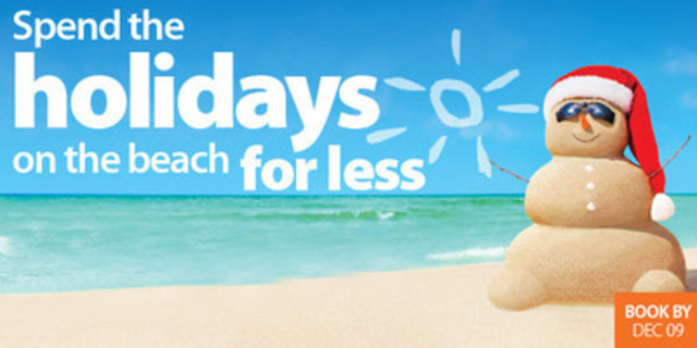 Holiday On The Beach For Less CNW Group Sunwing Vacations
