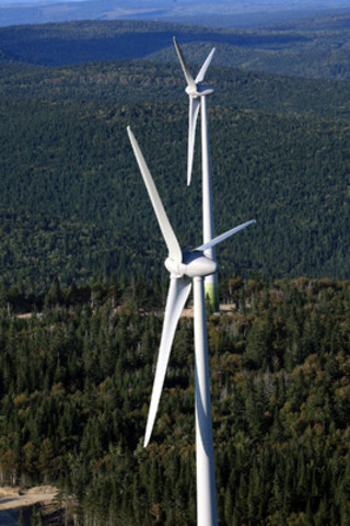 The Caisse invests US$500 million in Invenergy wind projects, including Le Plateau wind farm located in Gaspésie. (CNW Group/CAISSE DE DEPOT ET PLACEMENT DU QUEBEC)