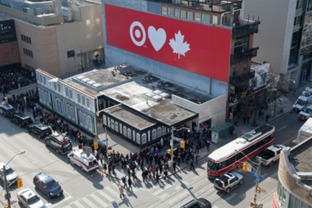 Torontonians share their love for Target at the one-day only pop-up store featuring the Jason Wu for Target collection, which sold out in less than five hours. Target donated an amount equal to 100 percent of the sales from the event to United Way Toronto. (CNW Group/Target)