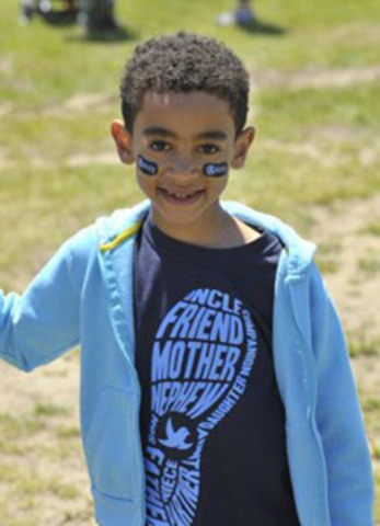 Six-year-old Jacob Emerson was among thousands of people who showed up in cities across Canada for yesterday's Walk to Fight Arthritis. Over six years, the event has raised $8 million in support of The Arthritis Society. (Photo: J.P. Moczulski) (CNW Group/Arthritis Society)
