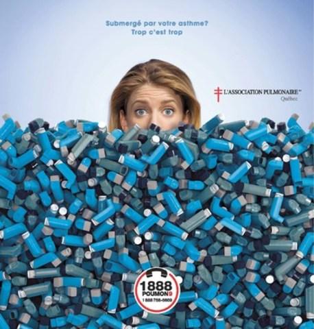 Submergé par votre asthme? (Groupe CNW/Association pulmonaire du Québec)