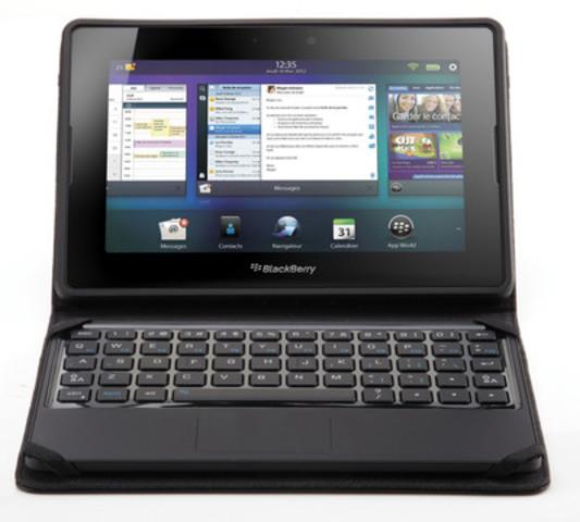 La Source a annoncé aujourdhui la disponibilité exclusive en magasin du nouveau mini-clavier BlackBerry pour la tablette BlackBerry PlayBook (Groupe CNW/The Source)