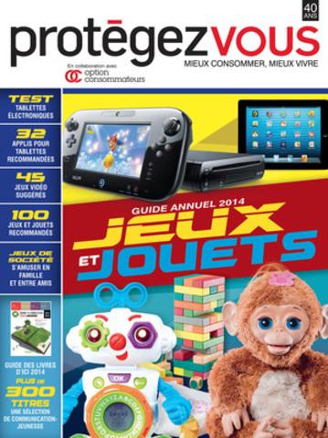 Couverture guide Jeux et jouet 2014 (Groupe CNW/Protégez-Vous)